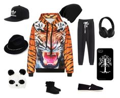 """Wild side"" by djstormi ❤ liked on Polyvore featuring WithChic, TOMS, UGG Australia, adidas, Valentino and Beats by Dr. Dre"
