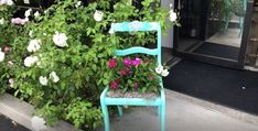 It's always nice to breathe new life into an old piece of furniture, and this project does just that! I had an old chair lying around that was just begging for something bright and new, so I decided to turn it into a planter! This chair planter brings a lot of whimsy to my garden and is a beautiful focal point as well. It's a simple project that anyone can do, and you don't even need any heavy-duty tools to do it! Follow my step-by-step tutorial below to get started on your own chair planter ... Modern Planters, Wood Planters, Succulents Diy, Succulent Pots, Diy Plate Rack, Chandelier Planter, Painted Rock Cactus, Chair Planter, Mosaic Flower Pots