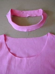 How To Sew a Classic T-Shirt Neckband and make it look professional