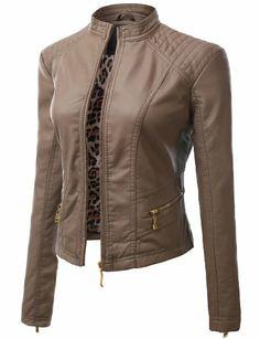 Doublju Motocycle Rider Faux Leather Jacket