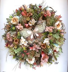 Tuscan Wreath-Deco Mesh Wreath-Any Season by SeasonalWreaths