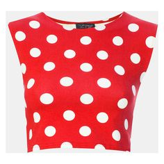 Topshop Spot Stretch Crop Top Red 8 ($9.99) ❤ liked on Polyvore featuring tops, shirts, crop tops, red, polka dot tops, embellished tops, sleeveless shirts, red polka dot shirt and red top