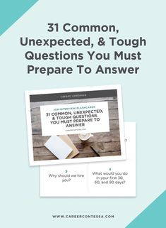Come to your next job interview completely prepared—with the most common interview questions and the best ways to answer them. Job Career, Career Path, Career Advice, Most Common Interview Questions, Group Interview, Phone Interviews, Career Inspiration, Secret To Success, Career Development