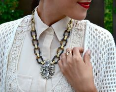 Tortoise, gold, and crystals- J Crew