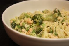 Salmon and Broccoli Tagliatelle