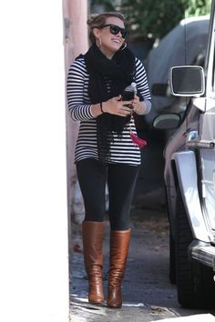 Pregnant Hilary Duff goes to maternity pilates class celebrities