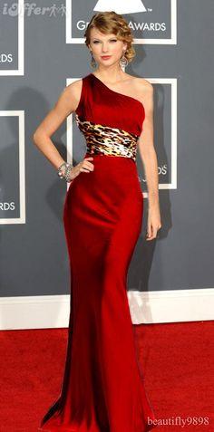 Vestido vermelho de um ombro só para madrinha de casamento