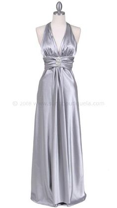 a possible vow renewal dress/. Silver is pretty too