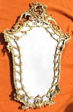 #LouisXV #style mirror with a #bronze frame. Beveled mirror. 19th century. Exceptional in its size (width: 80cm, height: 123cm, depth: 9cm). For sale on #Proantic A.ABC Pascal.