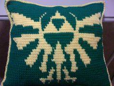 Classic Zelda Triforce Pillow by Crochet4Nerds on Etsy, $50.00