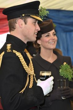 Kate Middleton Photos: The Duke And Duchess Of Cambridge Attend St Patrick's Day Parade At Mons Barracks