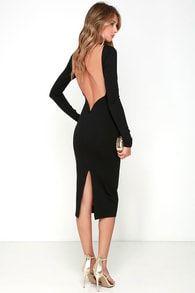 0dcc3ae833d4 Va Va Voom Black Backless Midi Dress Black Dress Backless, Backless Dresses,  Backless Cocktail. Lulus