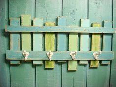 Beach Fence Hook Rack Coat Rack Coastal Living by by CastawaysHall