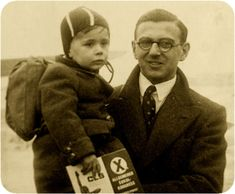 "Nicholas Winton is dead at age 106. Saved kids from the #Holocaust. #WWII ""A family picture of Nicholas Winton with one of the hundreds of Jewish children whose lives he saved during World War II."""
