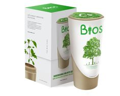 The Bios Urn with Red Maple seeds. The Bios Urn can be used for people and pets. Each Bios Urn is made of biodegradable and recycled materials, and aids in growing a living tree from ashes. The Bios Urn comes with growth mediums, and Red Maple seeds.