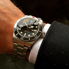 """""""There's never a wrong time for cleaning up. - The Ref 216A Red Depth Submariner. The only modern Rolex with a true gilt dial, a coin edge bezel, lug…"""""""