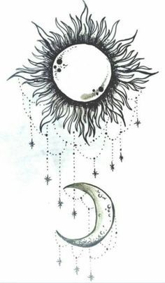 Cool Sun Drawings Tumblr Sun and moon this will be on