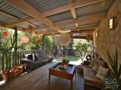 pergola with tin roof