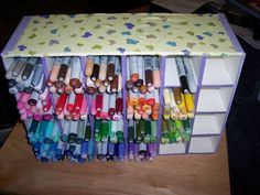Copic Marker Storage Foam Core Board (view #2) by 1chrystal - Cards and Paper Crafts at Splitcoaststampers