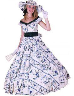 Costume belle du sud 38/40 - Accessoires de fête, Déguisements, Costumes,