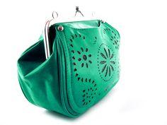 Bolso monedero verde