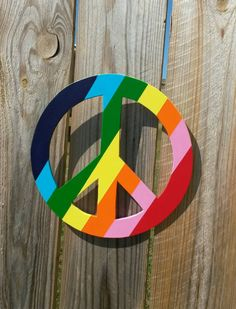 Peace Sign Wall Hanging Peace Sign Hippie by TheStanleySawmill