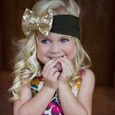 SO CUTE- figure out how to make these, maybe do a smaller bow thats for school #bow #school # hair #girls #headband # sequin #dance #ballet # back to school