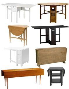 18 Space-Saving Dining Tables for Your Apartment | Side tables ...