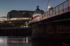 Swing bridge and Hilton Hotel