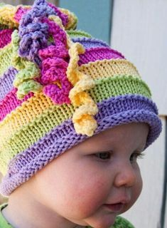 a717b7090 Childrens Knit Hat Ruby by BarbarasBeanies on Etsy
