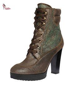 HOGAN Femmes Bottines cuir véritable vert 37 - Chaussures hogan (*Partner-Link)