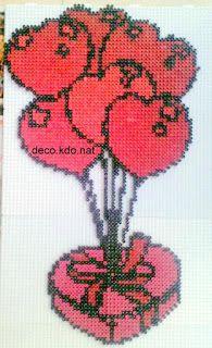 DECO.KDO.NAT: Perles hama: st valentin ballon coeur