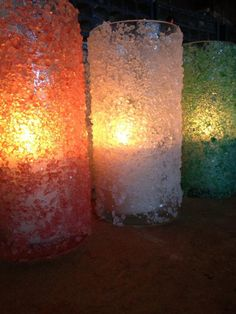 Mix food coloring with Epson salt & glue to outside of vase/votive /jar,tea light inside. Centerpiece with snow miser. Dance Themes, Prom Themes, Fire N Ice, Diy Party, Party Ideas, Prom Decor, Ice Dance, Dollar Store Crafts, Bar Mitzvah