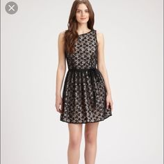Red Valentino black lace dress NWOT Black Red Valentino. Listed on Lyst.com for over double my prices!!! Size 44. Will fit size 6-10. This gorgeous dress is a fit & flare, has never been worn and has no flaws. Price negotiable, but reasonable offers only please! Don't miss this steal! RED Valentino Dresses