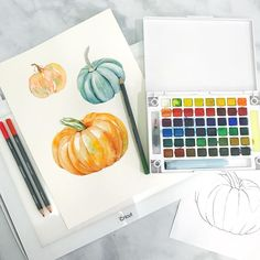 Third time's a charm folks! Today is the last day to enter the @sakuraofamerica Paint palette giveaway a few posts back! And unfortunately my phone was too full to save my live video so once it's gone it's gone! See how I used my brand new @officialcricut bright pad to paint this big orange pumpkin! And @ctmhofficial watercolor pencils! Huge thanks to those of you who jumped on! You asked the best questions!!!! . . . . . . . #pursuepretty #abmlifeiscolorful #minted #mintedartist #watercolor…