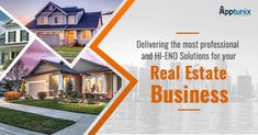 Delivering the most professional and hi-end solutions for your #RealEstate business #RealEstatePropertyApp #Business #Apptunix #MobileAppDevelopment