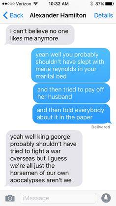 SparkLife » If Alexander Hamilton Could Text