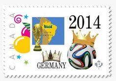 Fußball-Weltmeister Deutschland auf Briefmarke aus Kanada von 2014: http://d-b-z.de/web/2014/07/15/fussball-weltmeister-briefmarke-kanada-2014/