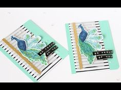 Peacock Layering  - Tips For Color Layering Stamp Sets - YouTube