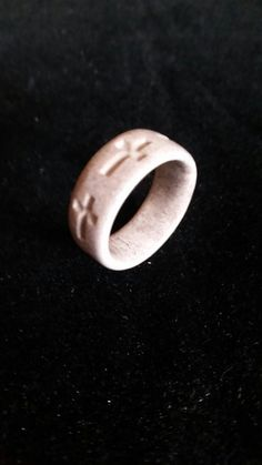 Hand Carved Genuine Deer Antler Cross Ring by Moore4YourBuck on Etsy