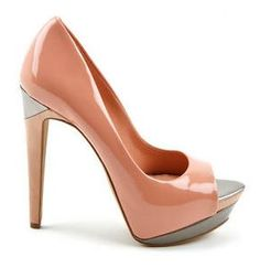 Holy. Hell. REVEL: Peach Colorblock Pumps
