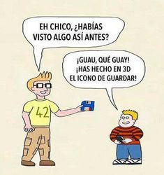 Icono de guardar #3D #Humor