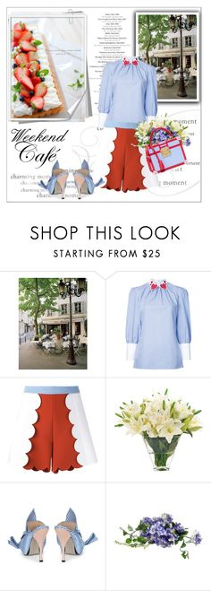 """""""Weekend Cafe ~berry & berry cheese tart~ (Untitled #97)"""" by erihiro ❤ liked on Polyvore featuring La Maison, VIVETTA, MSGM, NDI, N°21, MayraFedane, weekend, dayout and cafe"""
