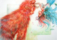 fairy and cat by LumiLumi.deviantart.com on @deviantART