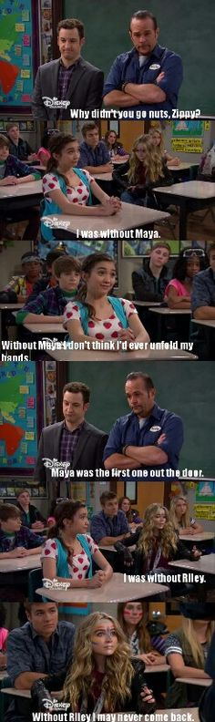 "#GirlMeetsWorld 2x07 ""Girl Meets Rules"" - Harvey, Riley and Maya"