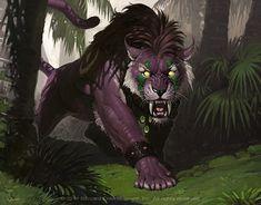 Great illustration of a World of Warcraft night elf druid in cat form. Artist is Jaemin Kim. I miss my Druid, Irate. World Of Warcraft Druid, Art Warcraft, Fantasy Kunst, Fantasy Art, Pet Anime, Elf Druid, Big Cats Art, Fantasy Beasts, Night Elf