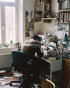 artist Jockum Nordström, Stockholm. great work space