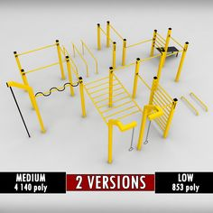 Street workout park gym low poly Modelo in Equipación Deportiva Outdoor Gym, Outdoor Playground, Outdoor Workouts, Gym Workouts, Playground Ideas, Workout Exercises, Butt Workout, Park Workout, Street Workout