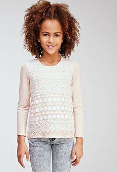 Daisy Crochet Overlay Top (Kids)   FOREVER21 girls   #f21kids