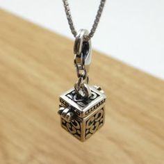 925 Sterling Silver Thai Silver Openable Locket Charm DIY Findings LFJ20